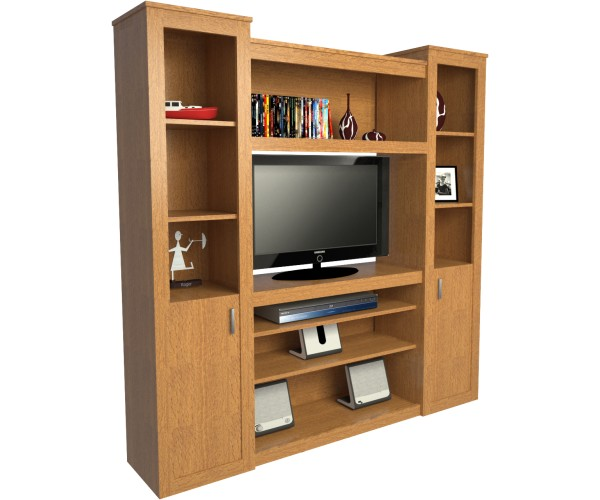 mueble de algarrobo para tv y audio